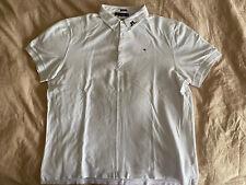 J. Lindeberg Men's Sz XXL White Logo Collar Button-Down Polo Shirt
