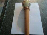STROH'S Baseball Bat Family Brewed and Family Owned Beer Tap Handle