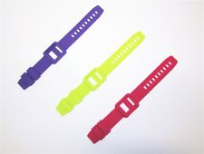 Lot of 3 Silicone Watch Band Wrist Strap Case Skin for Apple iPod Nano 6 generat
