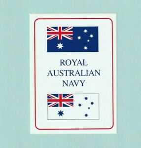 ROYAL AUSTRALIAN NAVY WHITE ENSIGN & AUSTRALIAN FLAG STICKER - Postage +Tracking