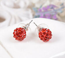 Wholesale Multicolor Disco Balls/Beads Crystal Rhinestone  Ear Stud Ear