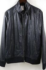 Rick Owens Black Lamb Leather Bomber Jacket Size 40