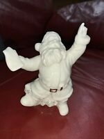 "2000 Distinctively Lefton Santa Claus 4 1/2"" Figurine White Gold"