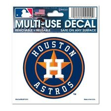"""HOUSTON ASTROS 3""""X4"""" MULTI-USE DECAL PERFECT FOR CAR WINDOWS"""
