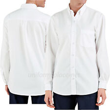 Dickies Shirts Womens Button Down Oxford Work Shirt Long Sleeve #254 White