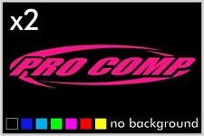(2) Pro Comp Sticker Decal Window Car Truck  Shocks Suspension Absober Racing