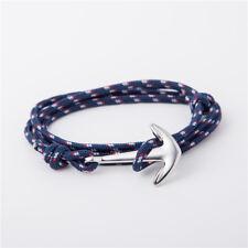 Bracelet Ancre Marine Pour Homme Femme Garcon Fille Ado bleu gourmette hope