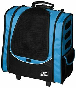 Pet Gear I-GO2 Roller Backpack Travel Carrier Car Seat for Cats/Dogs Mesh Ven...