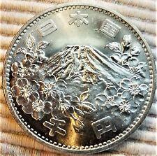 1964 Japan BU 1000 Yen Silver Coin - Mt. Fuji Olympic Commemorative