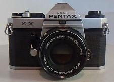 ASAHI PENTAX KX 35MM CAMERA W/SMC PENTAX-M 1:1.7 50MM LENS - TESTED PLEASE READ