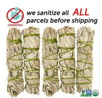 White Sage Cali Smudge Stick SET OF 5 Certified Organic Made in USA