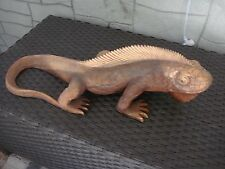 Large Statue Reptile Wood Animal Hand Carved From Bali Indonesia