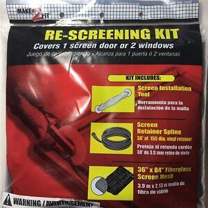 New Make-2-Fit Re-Screening Kit Screen Door Window Repair Replace Tool  P-7515