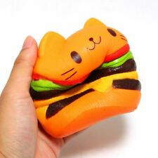 Cat Hamburger Food Squishys Cake Stress Relief toys Scented Squeeze Slow Rising
