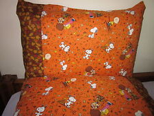 Autumn peanut snoopy pattern 100% new Cotton handmade Pillowcase one pair