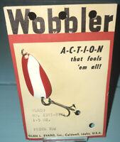 Vintage Glen L.Evans Wobbler Gleco No.X591-RWN 1.5 Oz. Spoon Fishing Lure
