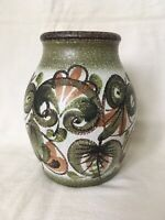 "Vintage Denby 7"" Inch Vase Glyn Colledge Hand Painted"