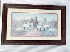 GLYNDA TURLEY  Sheep/Geese-Garden Gate-1988-Signed & Number 3969/5000