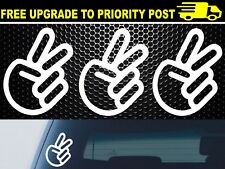PEACE SIGN CHOPPED Car Vinyl Decal Sticker Waterproof High Quality Funny JDM x3