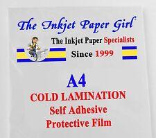 A4 Cold Lamination Glossy Self Adhesive Film 5 sheets