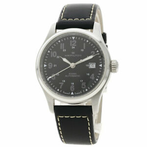 HAMILTON Khaki field Watches H893050 Stainless Steel/Leather mens