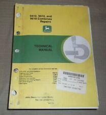 John Deere 9410 9510 9610 Combine Technical Service Shop Repair Manual Tm1701
