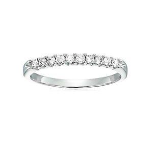 SUMMER SALE 1/4 cttw Round Diamond Wedding Band in 14K White Gold For Women