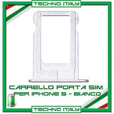 CARRELLO SLOT PORTA MICRO SIM TRAY ARGENTO SILVER PER IPHONE 5
