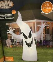 Halloween Ghost Screamer Airblown Inflatable Gemmy 7 ft Indoor Outdoor LED RARE