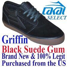 Lakai GRIFFIN LIMITED Men's SIZE 9.5 Skateboard Shoes BLACK GUM Skate BMX