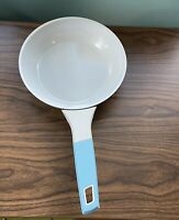"La Sera 8"" D Aqua Enameled Skillet Frying Pan Cookware Angled Handle Cushioned"