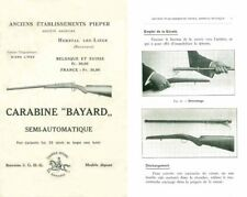 Pieper c1912-13 Anciens Etablissements- Carabine Bayard Semi-Automatique