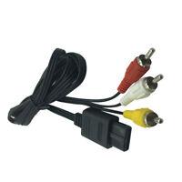 1Pcs 1.8m AV Cable Black for Super Nintendo SNES N64 GameCube TV SFC Chinch