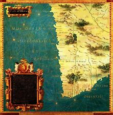 MAP ANTIQUE BONSIGNORI GOLD SOUTH AFRICA OLD LARGE REPLICA POSTER PRINT PAM0711