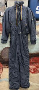 Vintage BOGNER SKI SUIT Black belted Size 10L