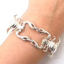 "925 Sterling Silver Scorpio Zodiac Sign Design Link Bracelet 8 3/4"""