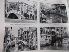 L'illustrazione italiana 1926 I PONTI DI VENEZIA santa marta san felice
