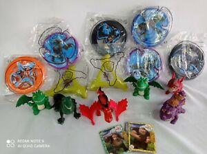 Lotto Statuette E Frisbee McDonald's Dragons 2 Nuovo E Occasione Happy Meal Toys