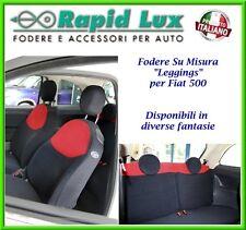 Fodere coprisedili in tessuto elasticizzato per Fiat 500 dal 2007