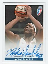 2007 WNBA Authentic Original Autograph Nakia Sanford Washington Mystics