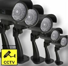5 x High Quality Outdoor Dummy Security Camera Fake LED Light CCTV