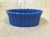 "Akro Agate Planter 6"" Oval Mold #654 Cobalt Blue Agate Planter circa 1940-1950s"