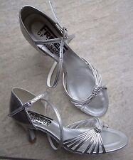 "Ladies UK Size 7.5 Silver Ballroom Sandals with 2.5"" heel *NEW* Freed"