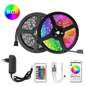 5m 10m 15m 2835 5050 DC12V 30Led/M RGB LED Strip Lighting Controller Adapter Set