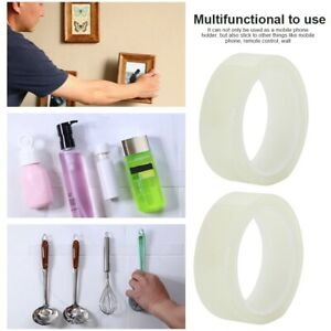 2PCS Universal Nano Gel Mobile Phone Sticker Holder Washable Tape Traceless MDF