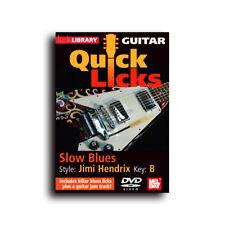 Quick Licks For Guitar Jimi Hendrix Slow Blues Key of B Lick Library DVD