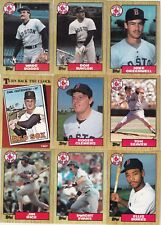 1987-88-89-90 Topps Boston Red Sox master team sets with traded Mint razor sharp