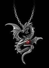Alchemy Gothic Pagan Guardian Aethera Dragon Pendant P756