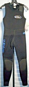 Quicksilver Women's Black Dive Suit Wet Suit Scuba Size 8 NWT