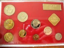 1977  RUSSIA USSR SOVIET UNION,  LENINGRAD MINT PROOF LIKE SET, 9 Coins+ 1 Medal
